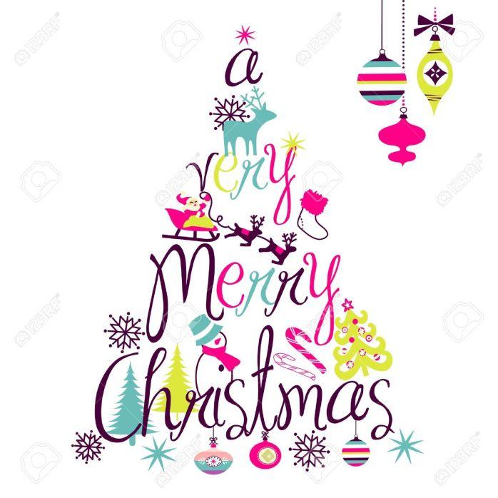 a-very-merry-christmas-tree-design-Stock-Vector