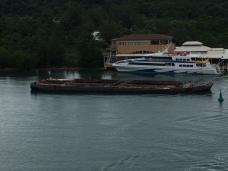Shipwreck at Dock by Carnival in Roatan