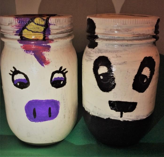 Mr. Panda and Unique Unicorn Jars