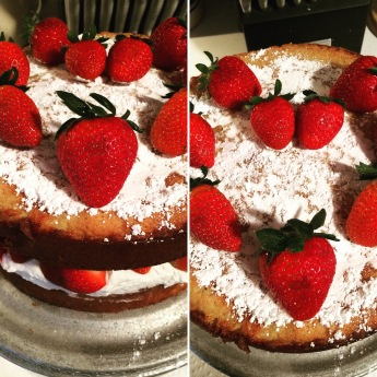 Victoria Sponge Cake from Top and Front-edited