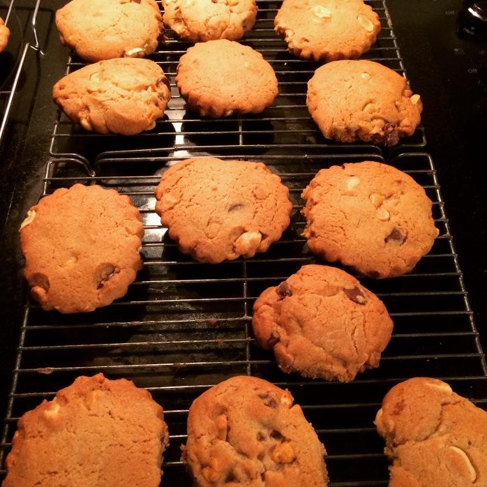 Orange Butterscotch Peanut Chocolate Chip Cookies