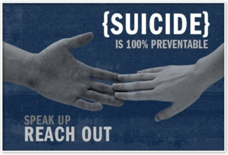 If you're the suicidal or one who sees someone who is