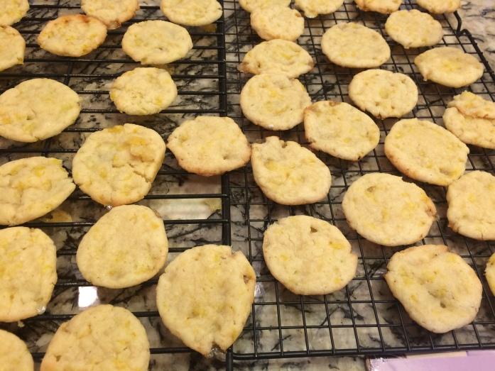 Lemon Drop Cookies Cooling