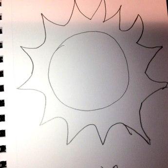 June 20 Sun (A little Cartoonish)