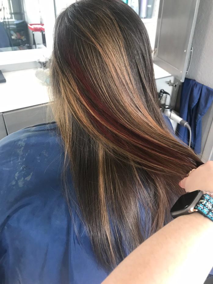 Caramel and Cherry hair