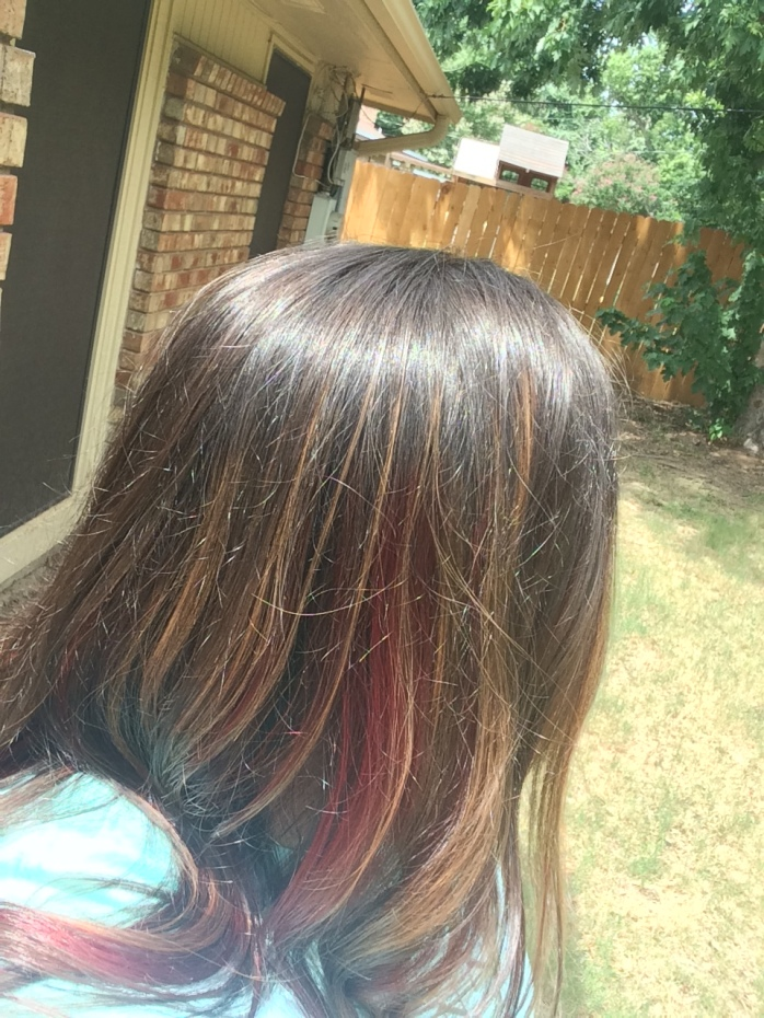 Sunlit colored hair