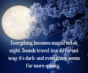 Everything becomes magnified at night. Sound travel in a different way, it's dark, and everything seems far more spooky.