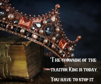 The crowning of the traitor King is today. You have to stop it.