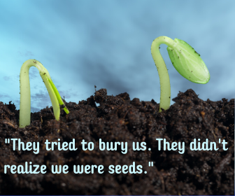 _They tried to bury us. They didn't realize we were seeds._