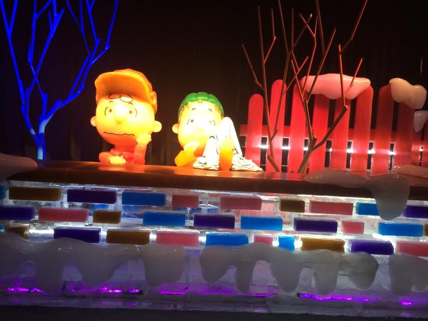 Linus and Charlie talking at wall