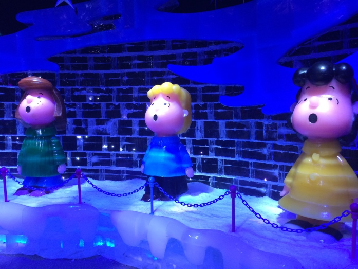 Peppermint Patty, Schroeder and Lucy singing at end