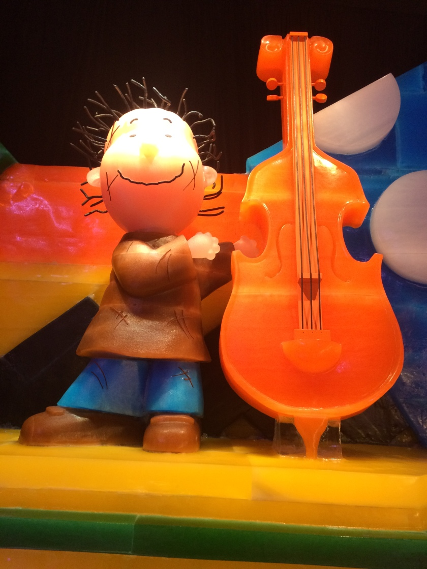 Pigpen playing cello at rehearsal
