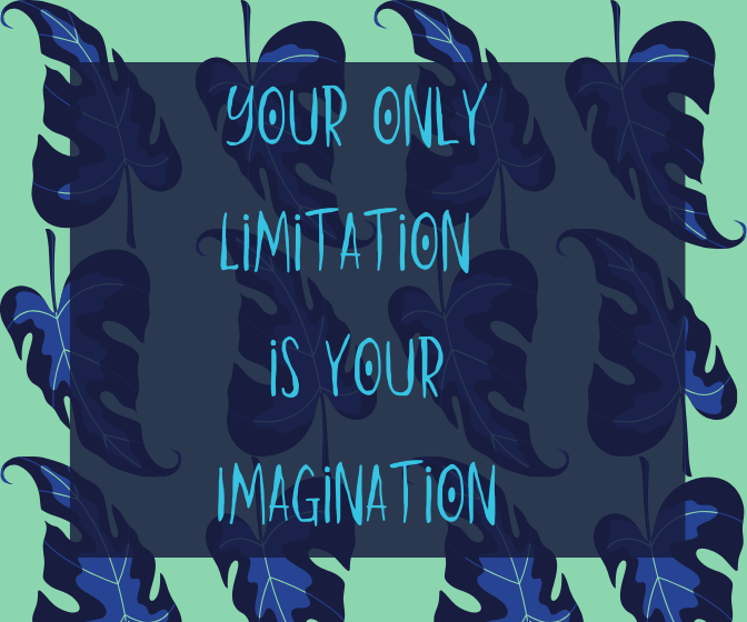 Your only Limitation is your Imagination
