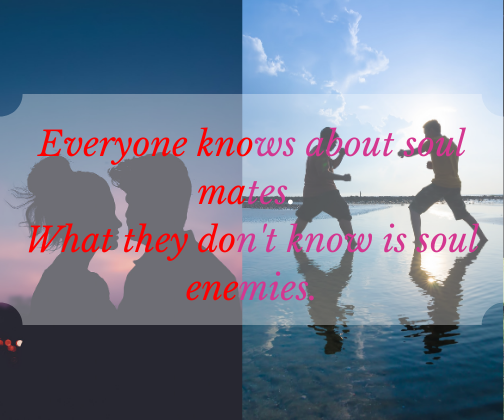 Everyone knows about soul mates. What they don't know is soul enemies.